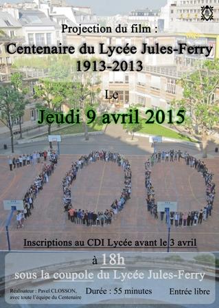 Affiche du film Centenaire du Lycée Jules-Ferry 1913-2013 (Site) 2